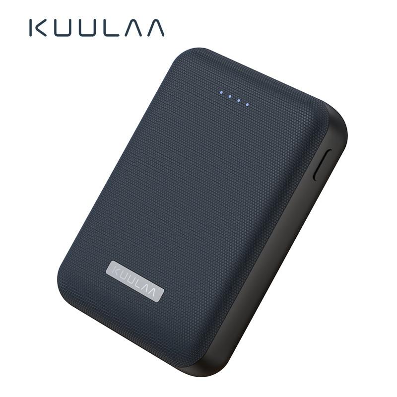 KUULAA Power Bank 10000mah Portable Charge Battery Mini Powerbank Dual Usb Ports External Battery Charger For Xiaomi Mi 9 Iphone