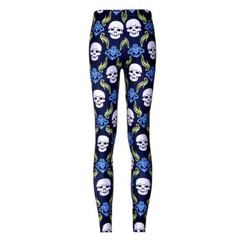 20 styles So Cute !!Dark & cat and Leopard print God Horse Mummy Dog Skull colorful Heart Printed leggings women's sexy Pants 24
