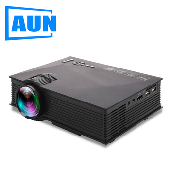 AUN MINI Projector UC46, 800*480P, Phone Screen Mirroring, Multimedia system Video Beamer, LED Projector for 1080P Home Cinema.