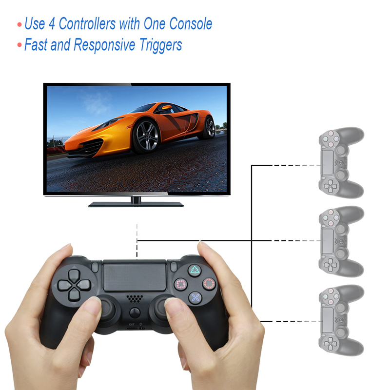 Bluetooth Wireless/Wired Joystick for PS4 Controller Fit For mando ps4 Console For Playstation Dualshock 4 Gamepad For PS3 4