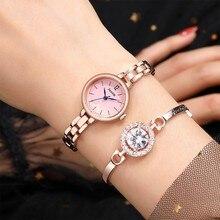 Quartz Women Watch Crystal Design Bracelet Watch Ladies Cloc
