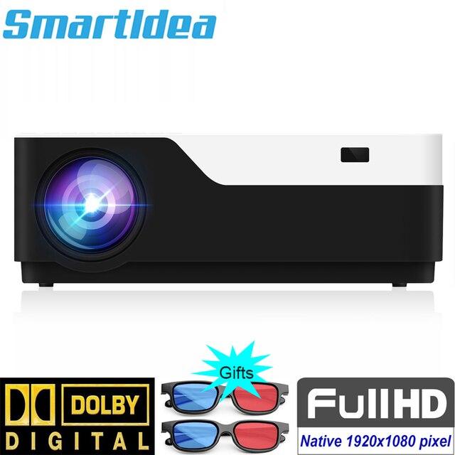 SmartIdea كامل HD 1080P العارض الأصلي 1920x1080 بكسل led 5500 لومينز Proyector السينما المنزلية لعبة فيديو متعاطي المخدرات HDMI USB VGA AV