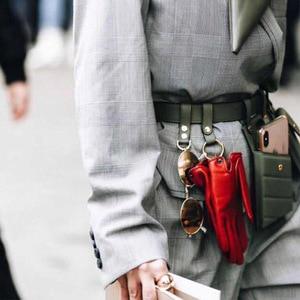 Image 5 - חדש עור מפוצל פאני חבילת מותן תיק חגורות אישה כתף תיק נייד טלפון חבילות חזה נשי ארנק Crossbody תיק