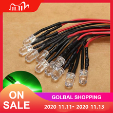 10pcs 12V High Quality LED Light Bulb 10 x Pre Wired 5mm Bright Diode Lamp 20cm / 7.874 inch Prewired with 25 Degrees