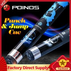 Precio barato Poos KL Break Punch & Jump Cue billar 13mm punta 147cm longitud 2 colores palo de billar Kit Cue con muchos regalos 2019
