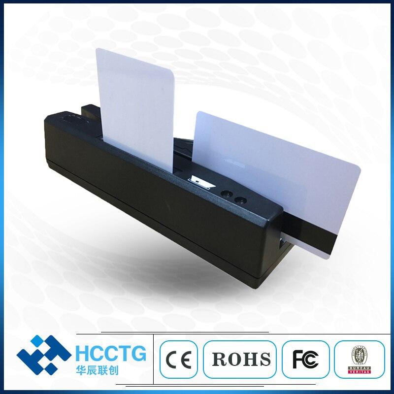 Prix usine IC + NFC + MSR Mifare lecteur de carte piste 1 2 3 mini MSR RFID lecteur de carte magnétique pour pos machine HCC110