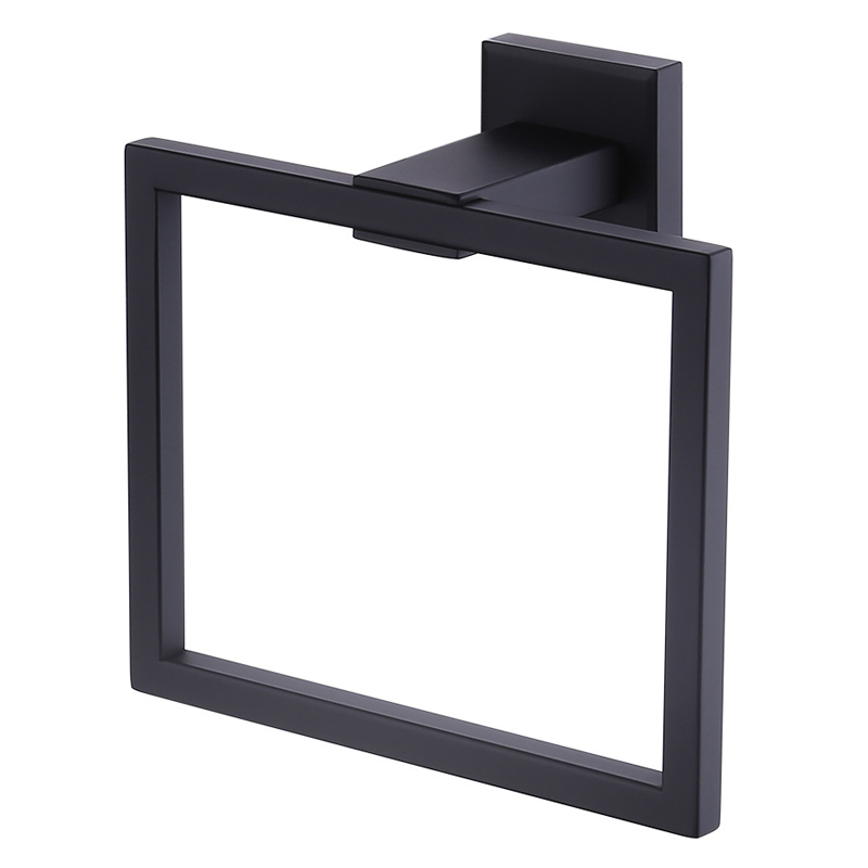 Minimalistic Towel Ring Towel Holder Square Wall-Mounted Towel Rack Bathroom Accessories Home Decoration