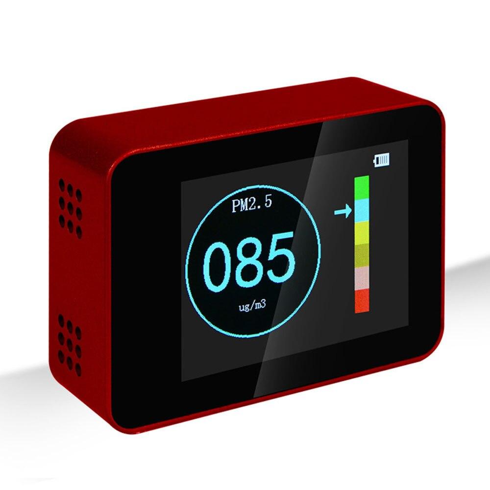 Kkmoon Air Quality Detector Laser PM2.5 PM10 PM1.0 Detectors Air Quality Monitor Co2 Sensor Breathalyzer Gas Detector De Gas