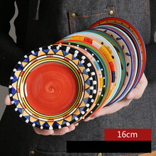 New Style 16cm Creative Hand Painted Ceramic Small Tableware Dishes Fashion Cute European Cake Snack Dessert Plates