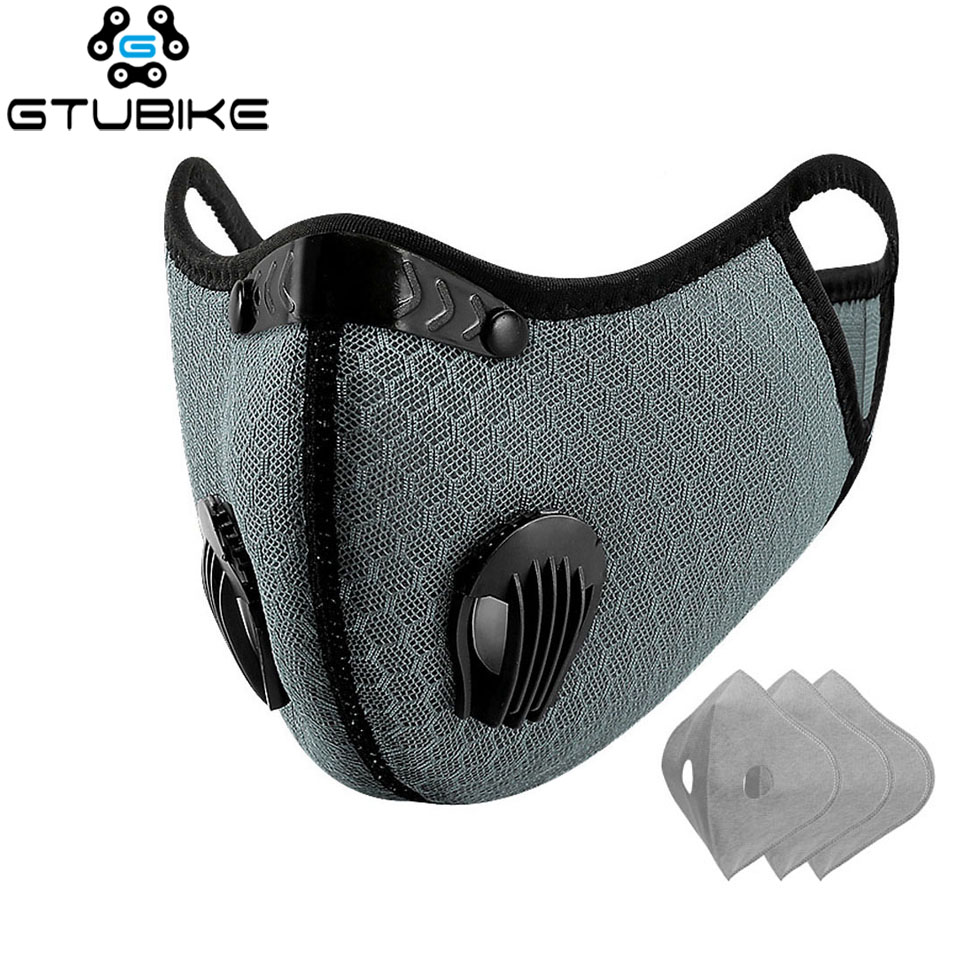 Sport Face Mask With 5 Layers Activated Carbon Filter Running Training MTB Road Bike Cycling Mask