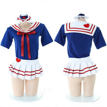 Japanese Short Sleeve JK Suit Girls Pleated Skirt Woman School Uniforms Sexy Collage Student Sailor Party Cosplay Costume(China)