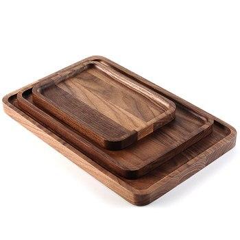 Поднос для еды, винтажный поднос для завтрака из орехового дерева дворецкий, лучшая кухонная подстилка для мяса, сыра и овощей
