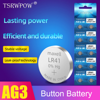 10pcs/1pack AG3 LR41 alkaline battery Lithium Coin Cell Button Batteries 1.55V 42MAH G3A L736 192 392 RW37 For Watch Remote Toys