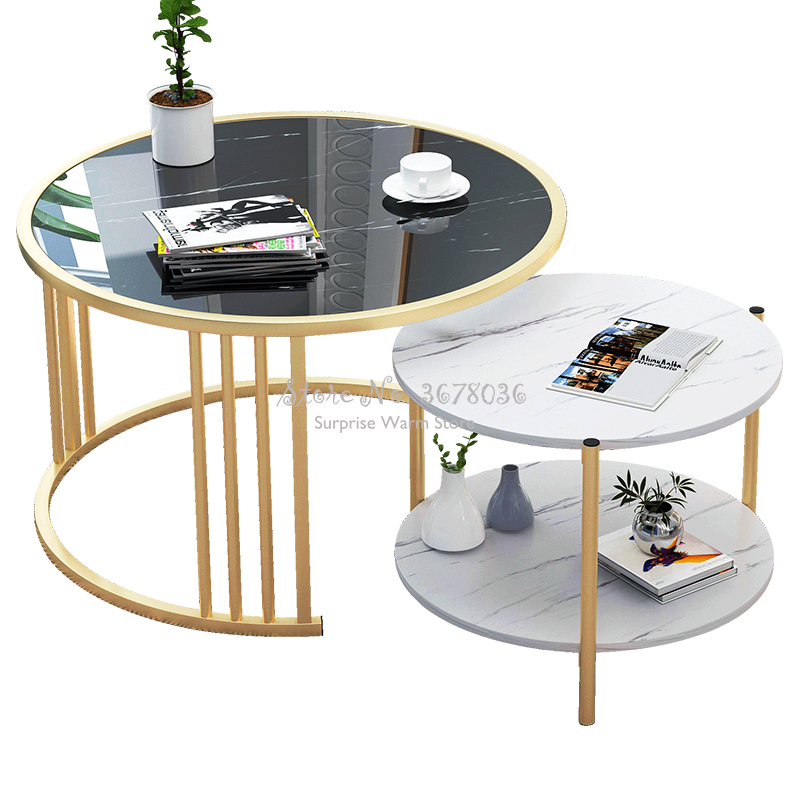 Nordic Small Coffee Table Modern Creative Home Living Room Sofa Round Table  Bedside Multifunctional Removable Table