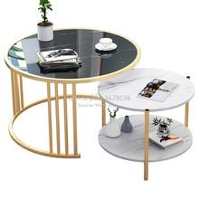 Mesa de centro pequeña nórdica moderna creativa para el hogar, sala de estar sofá para, mesa redonda, mesa de noche, mesa extraíble multifuncional