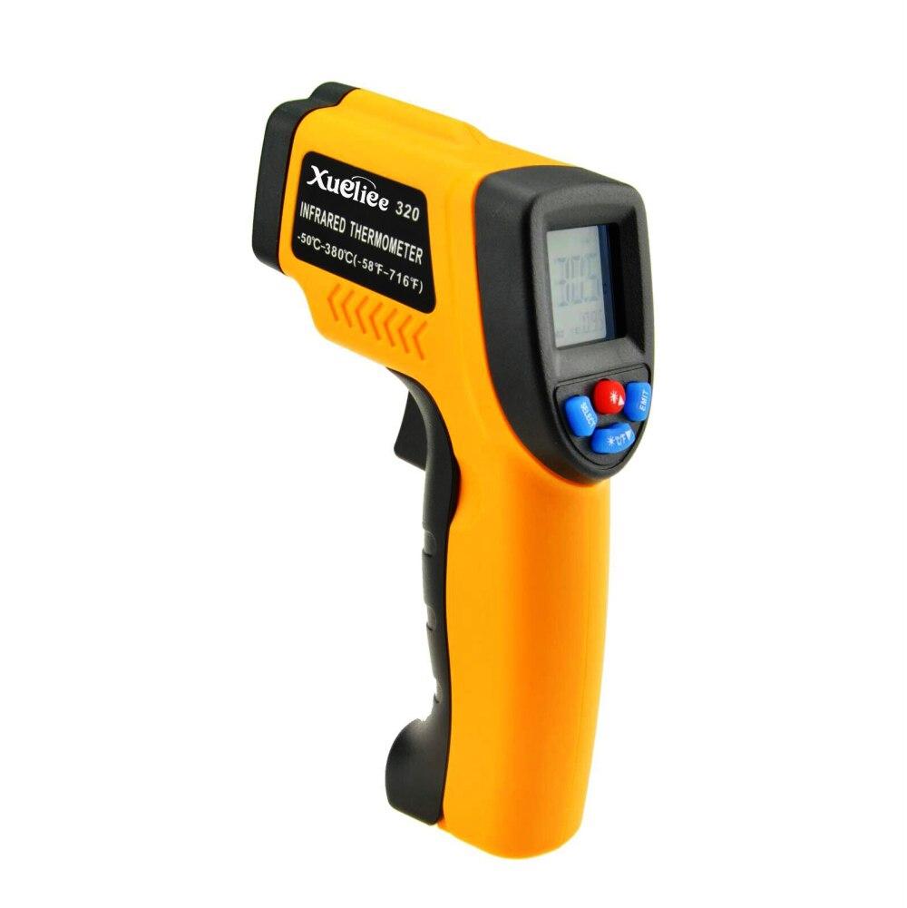 GM320 Laser LCD numérique IR thermomètre infrarouge température mètre pistolet Point -50 ~ 380 degrés thermomètre sans Contact