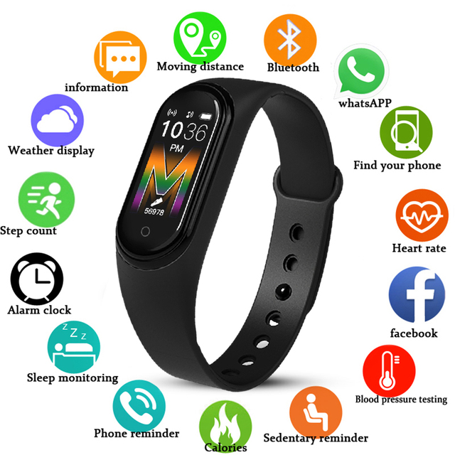 New M5 Smart Watch Men Women Bluetooth Watch Fitness Sport Tracker Call Smartwatch Play Music Bracelet For iPhone Android