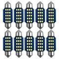 10 шт. автомобиль C5W Canbus гирлянда C10W 31/36/39/41 мм 12/15/18Led ошибок интерьер чтение светильник Габаритные лампы авто лампы подсветки номерного