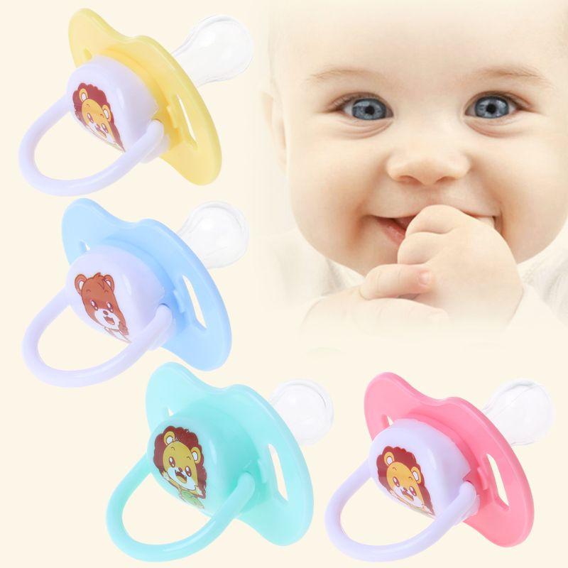 1 pçs confortável mamilo recém-nascidos babys mamilo chupetas bebê dos desenhos animados dormindo macio silicone chupetas padrão aleatório crianças quentes