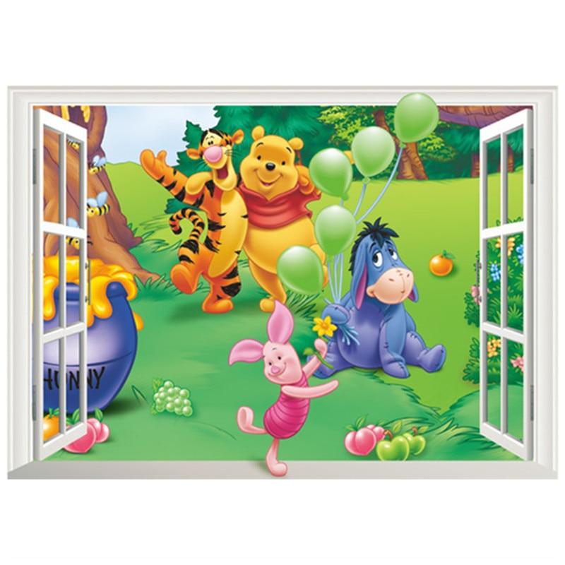 Tom and Jerry Tom /& Jerry 3D Magic Window Wall Art Self Adhesive Vinyl Sticker 1