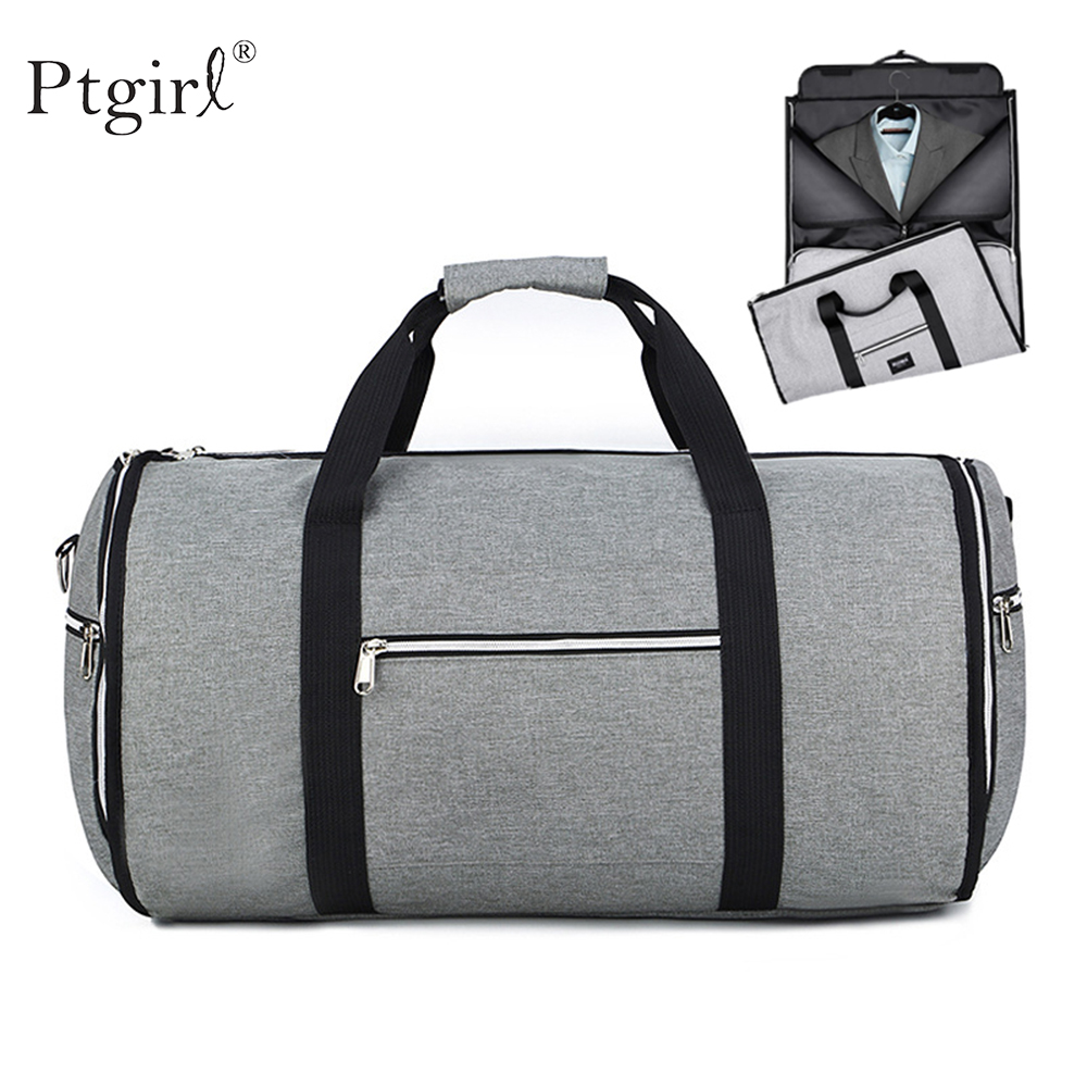 Convertible 2 in 1 Garment Bag with Shoulder Strap Luxury Garment Duffel Bag for Men Ptgirl Women Hanging Suit Travel Bags 2020
