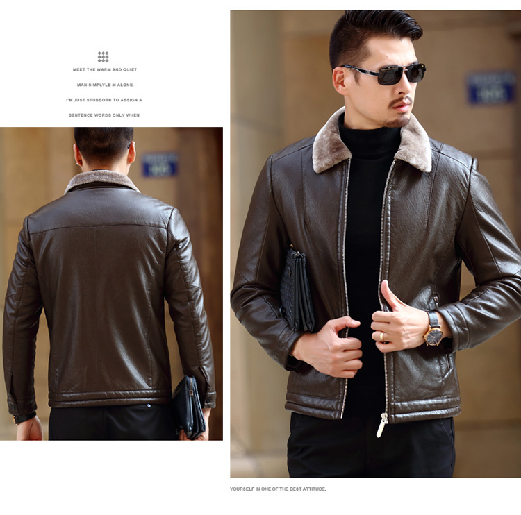 Winter Real Learher Jacket Men Warm Thicken Parka Mujer Plus Size 5XL Secend Layer Leather Coat Chaqueta Cuero Hombre 2579