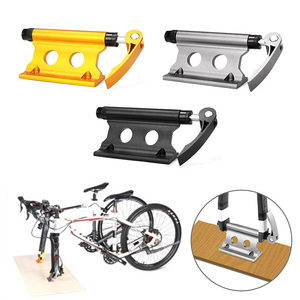 Image 2 - Bike Block Fork Mount Aluminum Alloy Quick Release bike front rack Fork Fixed Clip bicycle luggage rack for bicycle trailer