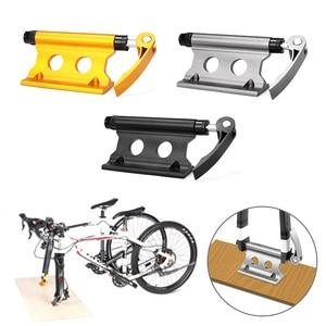 Image 2 - Bike Block Gabel Montieren Aluminium Legierung Quick Release bike front rack Gabel Fest Clip fahrrad gepäck rack für fahrrad anhänger