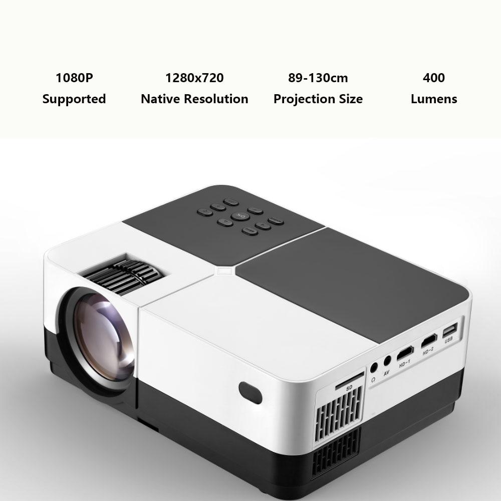 4K projecteur à LED portable HD 1080P pour Home cinéma et bureau avec 300