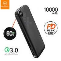 Mcdodo USB PD batterie externe 10000mAh Type C 3.0 charge rapide pour Xiaomi IPhone LED affichage QC 3.0 chargeur de téléphone Portable