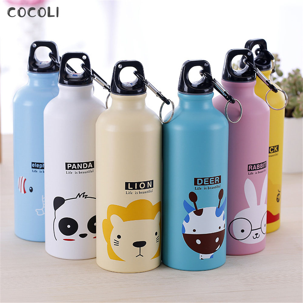 500ML Kids Gifts Cute Water Bottle Stainless Steel Water Bottle Hydro Flask Leakproof Sport Drinking Bottle for Children Present|Water Bottles| |  - AliExpress