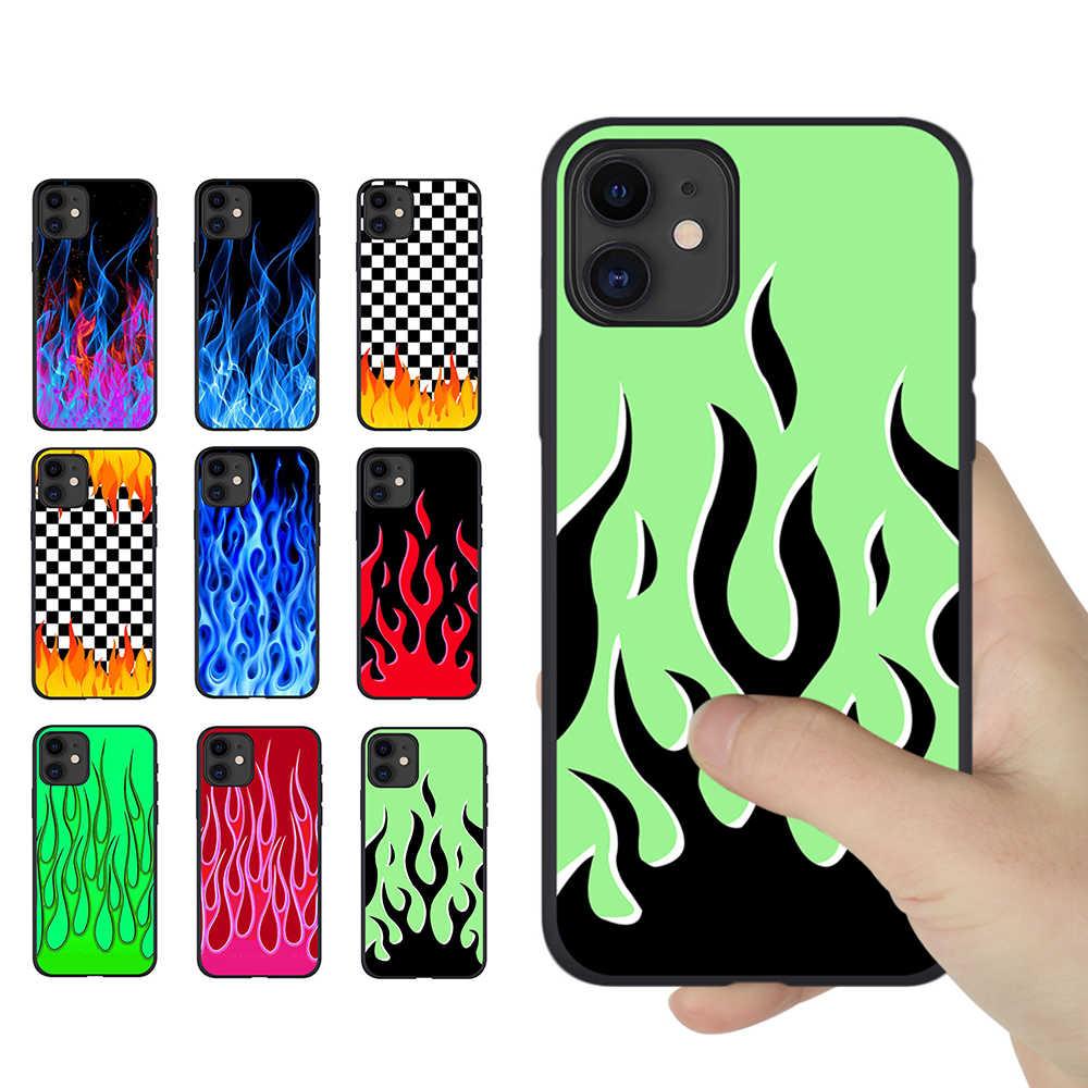 Personnalité artistique étui peint à la flamme pour iPhone SE 2020 ...