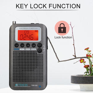 Image 4 - Retekess TR105 المحمولة الهواء الفرقة FM/AM/SW/CB/الهواء/VHF الرقمية ضبط راديو مع الموقت تشغيل/إيقاف وظيفة على مدار الساعة
