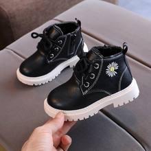 2020 детские ботинки из искусственной кожи короткие для девочек