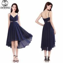 Skyyue Sling Sleeveless Plus Size Elegant Robe De Soiree Formal Gowns Chiffon V-neck Evening Dress Women Party Dresses 2019 C472