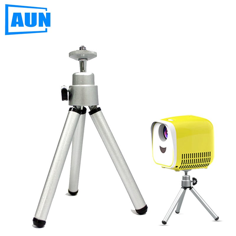 AUN Mini Projector Tripod Portable Adjustable Portable L1 Mini DLP Projector Tripod Camera Phone Holder Mount Bracket Stand