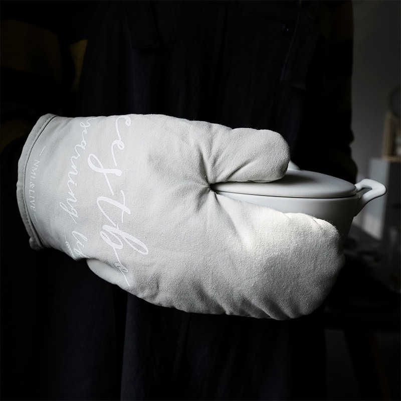 Guante de cocina a prueba de calor, guante de cocina, guante de horno microondas, guante antideslizante, a la moda