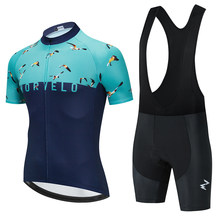 Summer Team MORVELO Orange Cycling Jersey Set Mountain Bike Cycling Clothing Men's Pro Racing Bicycle Clothes Cycling Set 2021