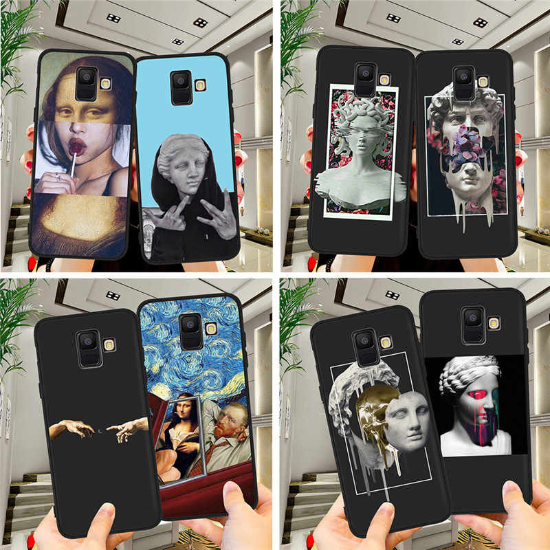 Statue Abstract Painted For Samsung Galaxy A9 A8 A7 A6 A5 A3 J3 J4 J5 J6 J8 Plus 2017 2018 M30 A40S A10 A20E phone Case Cover