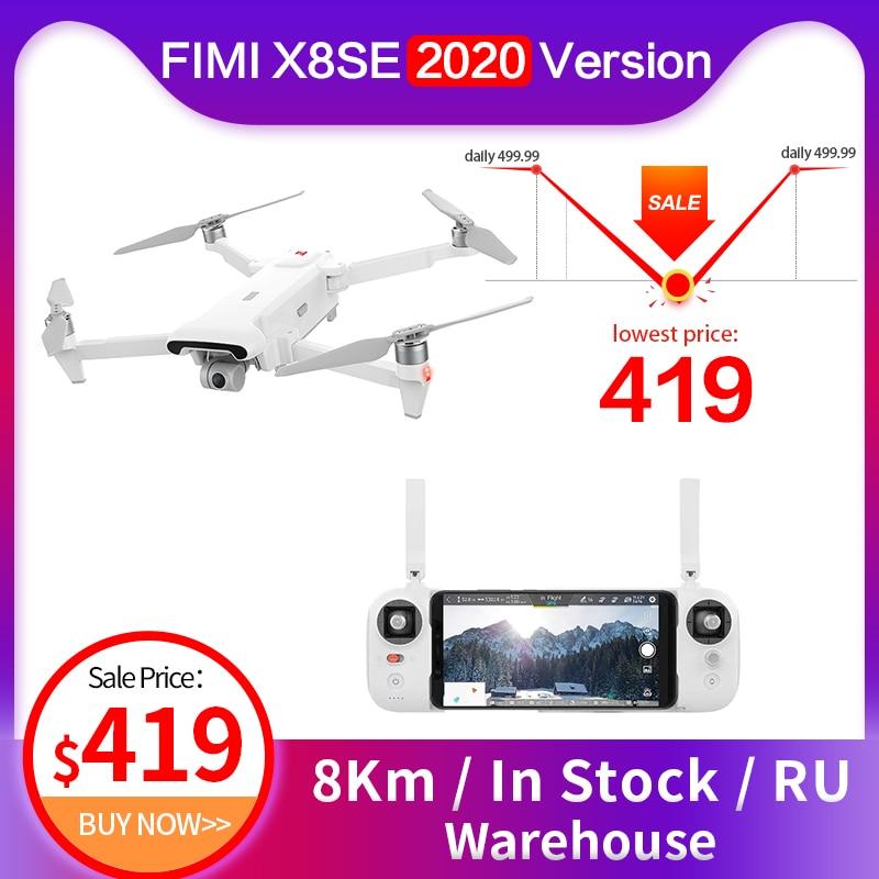 Fimi x8 se 2020 rc helicóptero fpv 3 eixos 4k gps câmera profissional drones 8km 35 minutos de tempo de vôo rc quadcopter drones