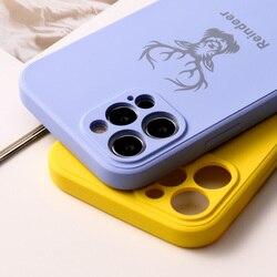 Liquid Slicon Case For Iphone 11 Cases Soft TPU Fundas On Iphone 12 Pro Max Mini 7 8 XR SE 2020 X Xs 6 6s Plus Back Dear Covers