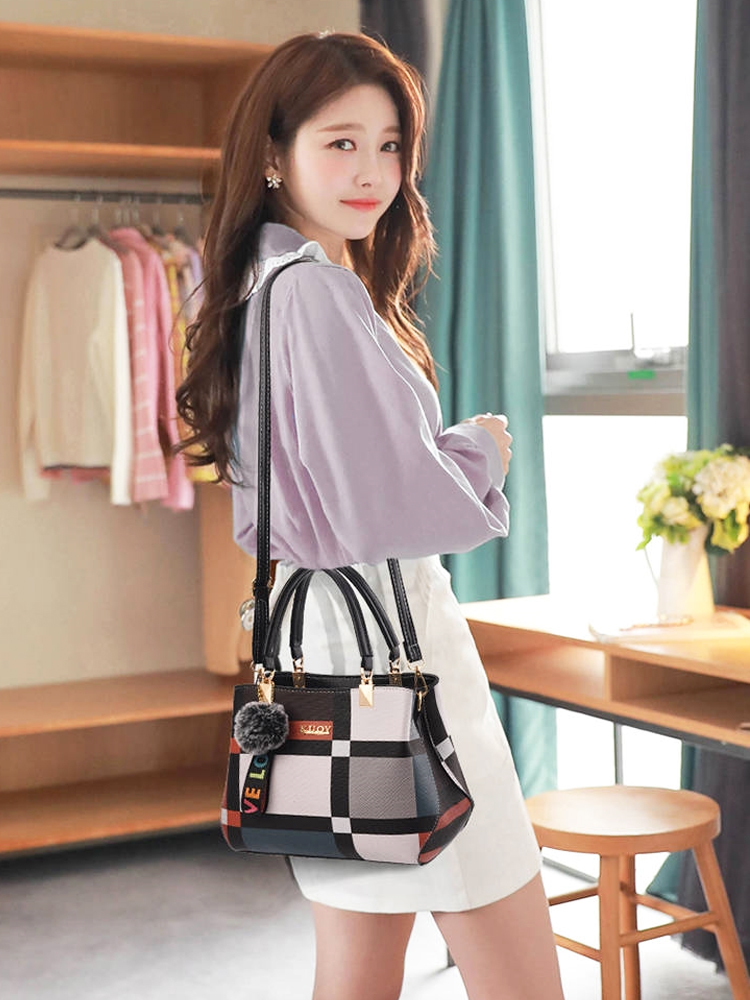 ACELURE Women Handbags Totes Crossbody-Bags Plaid-Shoulder-Bag Messenger Female Casual