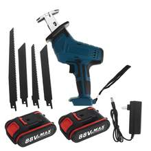 Reciprocating Saw Cutters Blades Wood-Tool Batterys-Charge Cordless Portable 88V