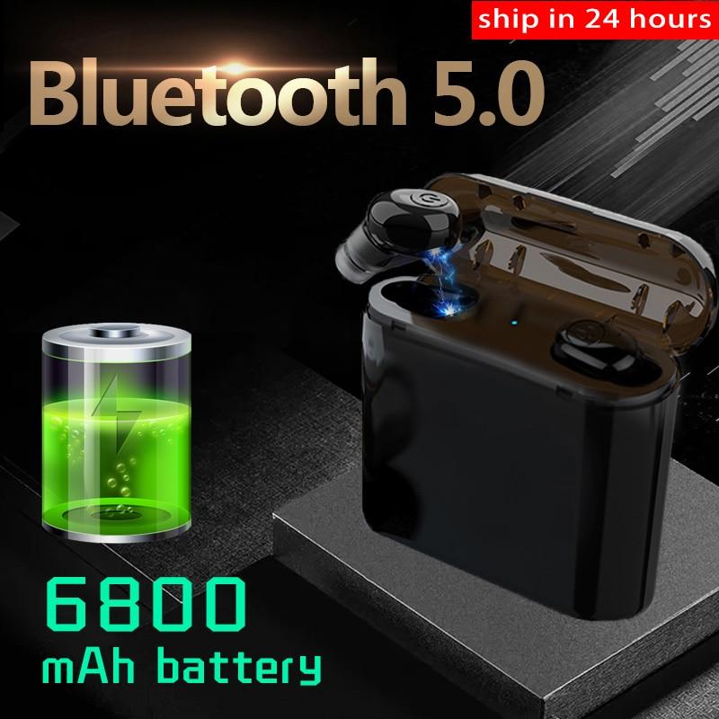 Newest TWS Wireless Earphones Headphones Bluetooth 5 0 Earbuds as Power Bank Sport Headset Noise Cancel Earphone Headphone