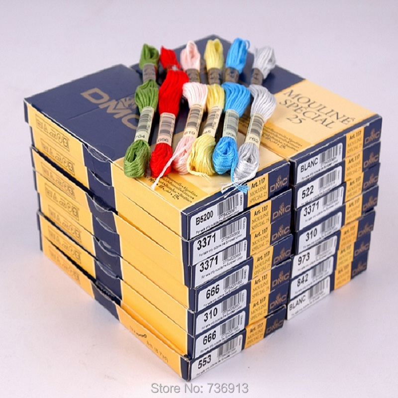 Totaal 80 stuks DMC Borduren Cross Stitch Floss Draad Kiezen Welke Kleuren En Hoeveelheid-in Floss van Huis & Tuin op  Groep 1