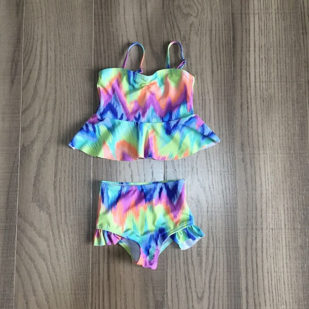 Baby Girls Swimsuit Kids Tie Dye Swimsuit Girl Bathing Set