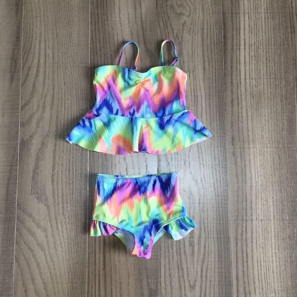 Baby Girls Swimsuit Kids Tie Dye Swimsuit Girl Bathing Set