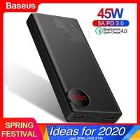 Baseus 20000mAh Quick Charge 4.0 3.0 Power Bank PD 45W 20000 mAh Powerbank For iPhone Xiaomi Huawei 5A External Battery Charger