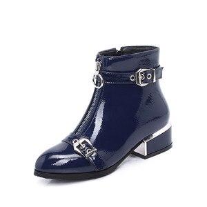 Image 3 - MORAZORA 2020 nuovi stivali di arrivo caviglia per le donne fibbia zip punta rotonda stivali autunno inverno ufficio vestito da modo scarpe femminili