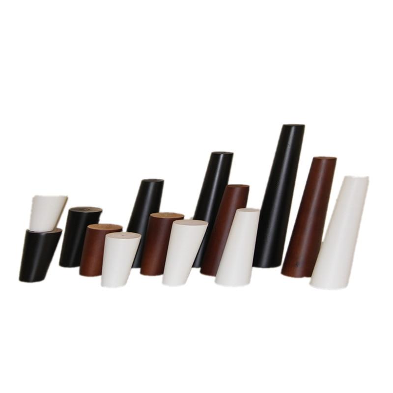 Patas Para Mueble Cabinet Table Legs 4pcs/lot Solid Wood Furniture Legs Sofa Feet Coffee End Table Rubber Feet Pied De Meuble